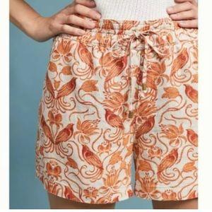 Anthropologie Linen Paper Bag Shorts 6